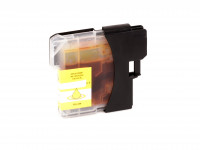 Tinta (alternativo) compatible a Brother  LC980  LC1100  amarillo